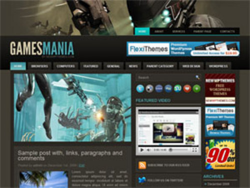 Product picture Gamer Wordpress Theme Games Mania