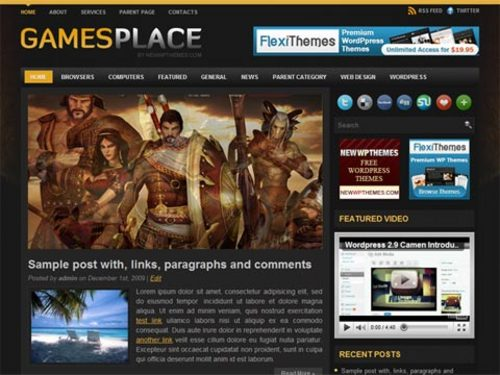 Product picture Video Game Wordpress Themes GamesPlace
