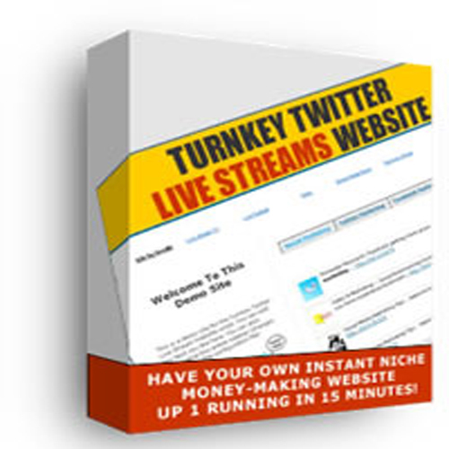 Product picture Start Your OwnTurnkey Twitter  Streaming Website