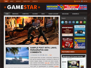 Thumbnail  Gamer Wordpress Themes-GameStar