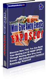 Product picture Mini Give Away Events EXPOSED!