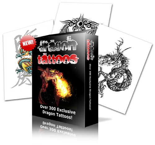 Product picture DragonTattoos | Over 300 Printable Tattoos Designs