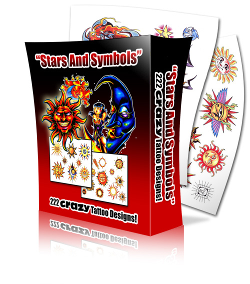 Product picture Star And Symbols Tattoos| 222 Crazy Tattoo Designs